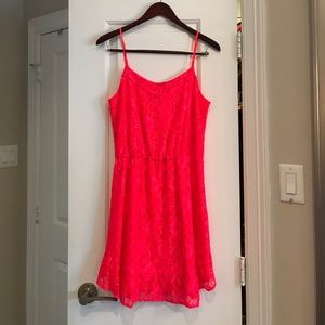 Bright lace summer dress