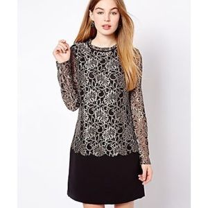 Ted Baker Elke Shift Lace Dress Light Brown.