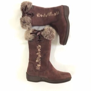 Clark's Children's Size 7.5 M Brown Suede Boots