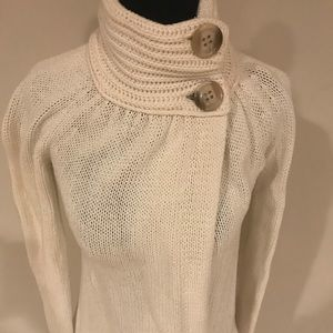 Old Navy Mock Turtle Neck Button Sweater  Sz XS