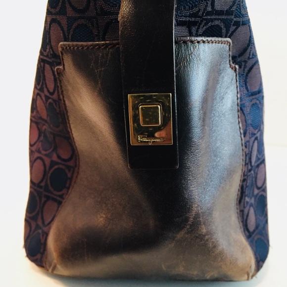 Salvatore Ferragamo Bags - Authentic Salvatore Ferragamo Brown Logo Bag