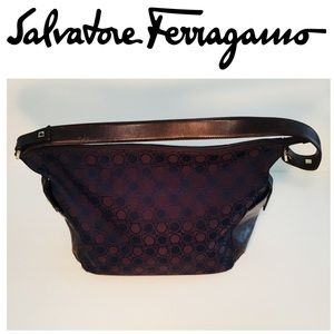 Authentic Salvatore Ferragamo Brown Logo Bag