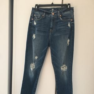 7 for All Mankind Sz 27 high waist ankle skinny