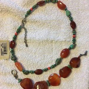 Barse necklace and bracelet set