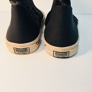 Coach Shoes - COACH Monogram Hi-Top Sneakers