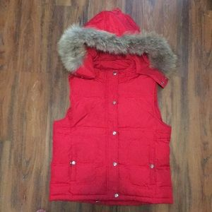 Micheal Kors red down vest