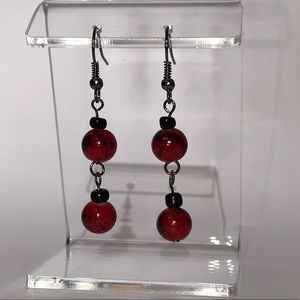Jewelry - Earrings, Hand Crafted, Red and Black