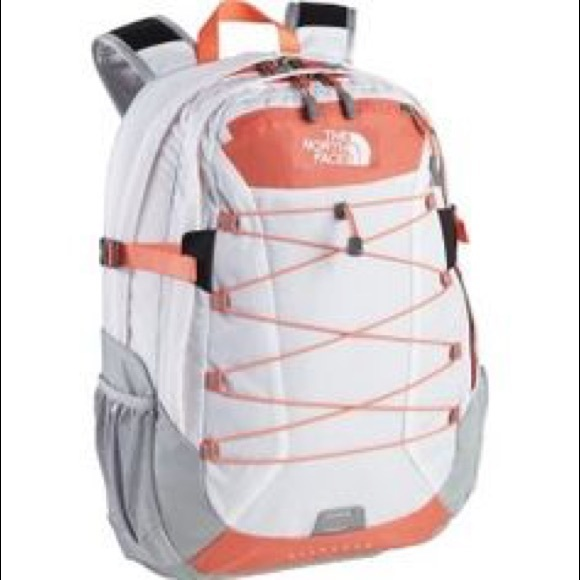 2cb5c1277ed The North Face Bags | Coral And White North Face Backpack | Poshmark