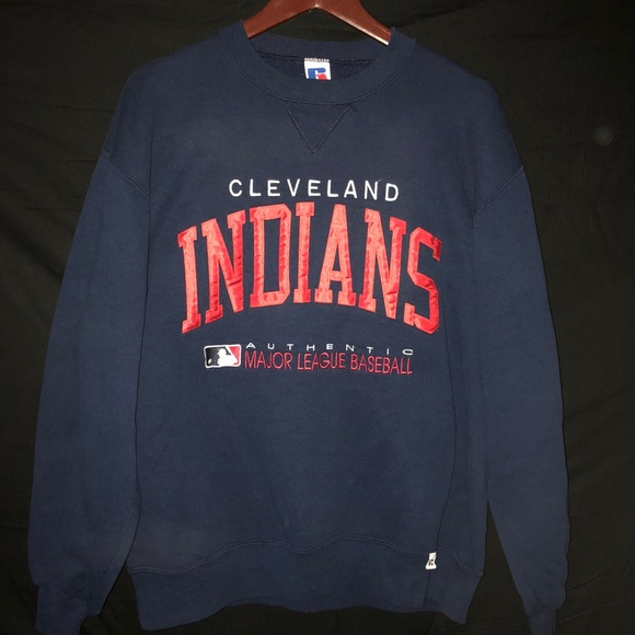 on sale efdcf 46d10 Vintage Cleveland Indians Crewneck Sweater