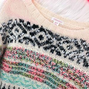 Xhilaration Multi-Colored Sweater Size XS