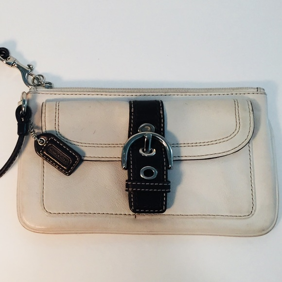 Coach Bags - COACH Wristlet brown and gray