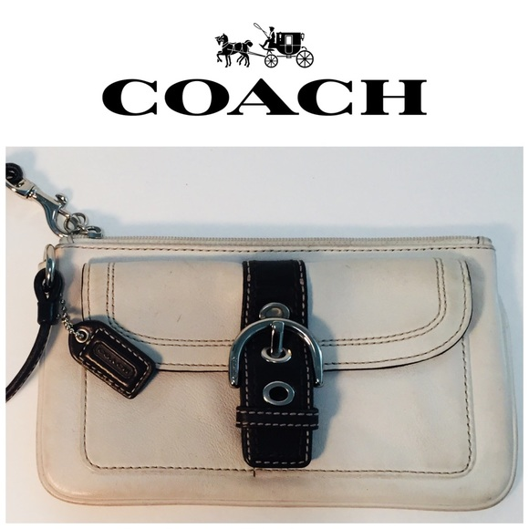 Coach Handbags - COACH Wristlet brown and gray