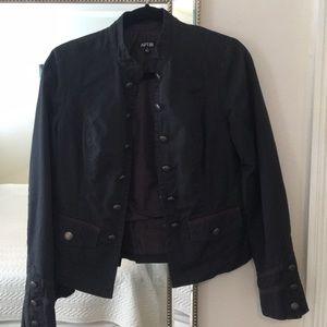 Apt9 Military Blazer 💕 Faded Black w Buttons Sz S
