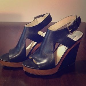 Michael Kors Leather Wood-Wedges
