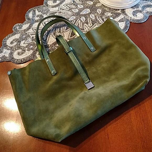6d367791dc Tiffany & Co. Bags   Tiffany Co Green Suede Reversible Bag   Poshmark