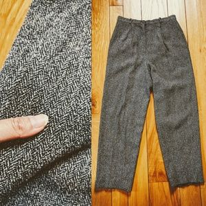 Vintage Talbots high-waisted gray trouser pants