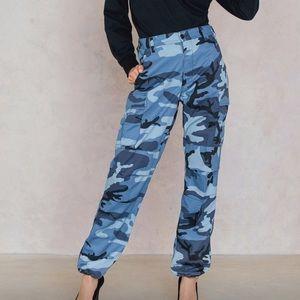 Camo pants high rise