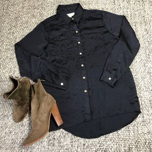 Michael Kors Navy Blue Blouse