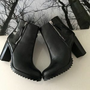 NWT- Authentic & Chic  Leather Boots