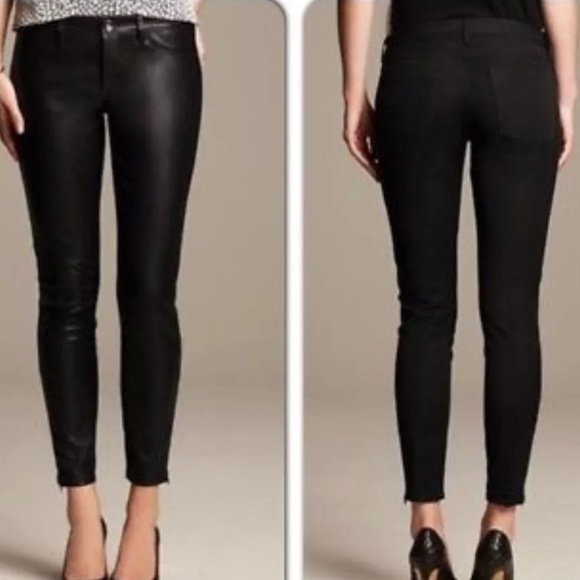 c1a64b0136dc3f Banana Republic Pants - Banana republic Sloan Fit Leggings Faux Leather