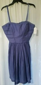 Jessica Simpson spaghetti strap blue dress