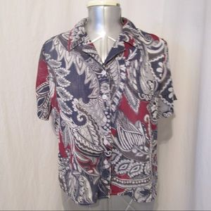 Alfred Dunner Petite Paisley Blouse