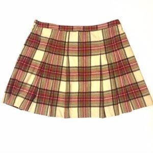 J. Crew Pleated Plaid Skirt