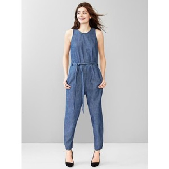 10d5d4f0db89 GAP Pants - Gap 1969 slit back denim jumpsuit