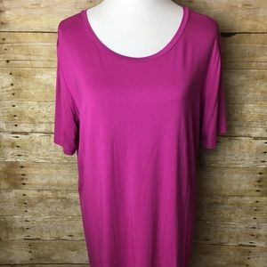 Fuchsia short sleeve Piko Top