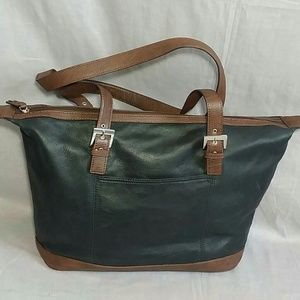 Clarks Purse Black/Brown Large Genuine leather