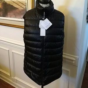 NEW Packable Black Travel Down Vest M/L