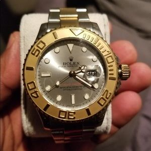 Rolex oyster silver and gold