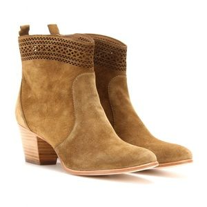 Aerin Tilstone Laser Cut Suede Ankle Boots