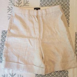 J. Crew linen shorts, size 6, herringbone