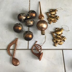 Other - Christmas decorations , 10 pieces , Golden brown