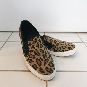 ASOS Leopard Print Slip-on Sneakers