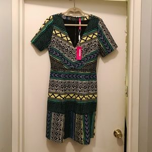 Peruvian print fit and flare dress by Tracy Reese