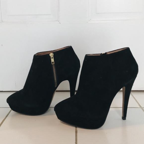 69de642f7c93 Aldo Shoes | Black Suede Stiletto Heel Ankle Boot | Poshmark