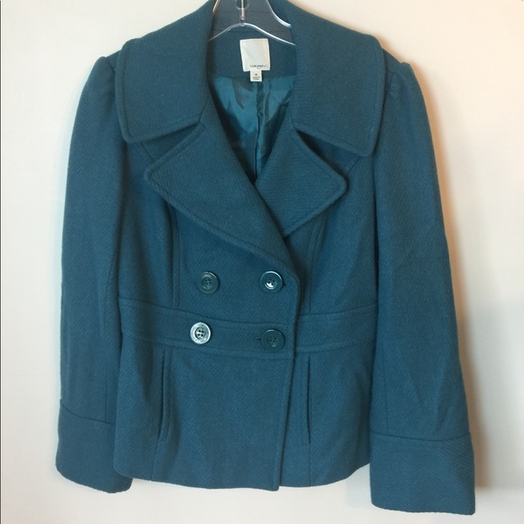 Halogen Jackets & Blazers - Halogen teal Wool Coat m