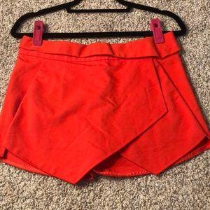 Red Asymmetrical skort