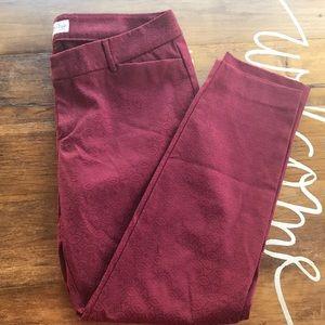Old Navy maroon pattern pants