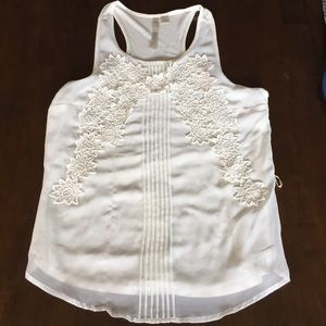 Lauren Conrad Cream Racerback Top