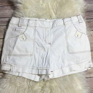 Loft White Shorts Sz 10 Ann Taylor Loft