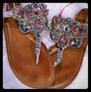 Gianni Bini Adorra Jeweled Sandals