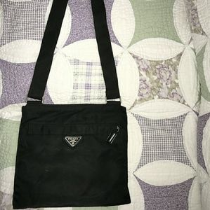 Prada Vela Crossbody Black  Bag