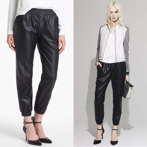 Nordstroms leather joggers