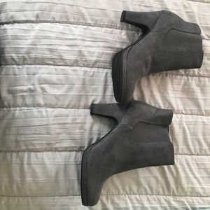 Rampage grey suede like heeled bootie