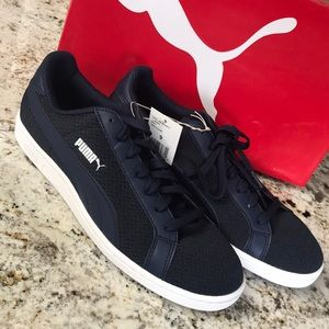 Navy blue puma sneakers