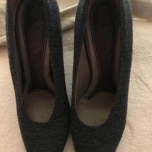 Marni grey wool flannel pumps size 36 6