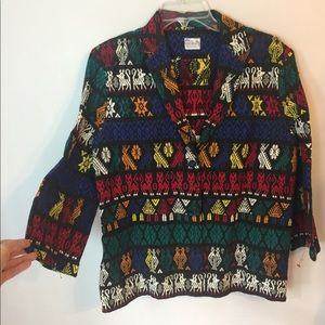 Vintage Guatemalan Embroidered  Boho Jacket M